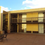 outside courtyard at Ramada by Wyndham North Platte & Sandhills Convention Ctr