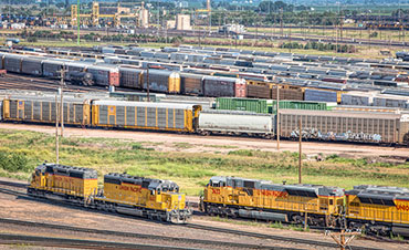 Union Pacific's Bailey rail yard from Golden Spike Tower