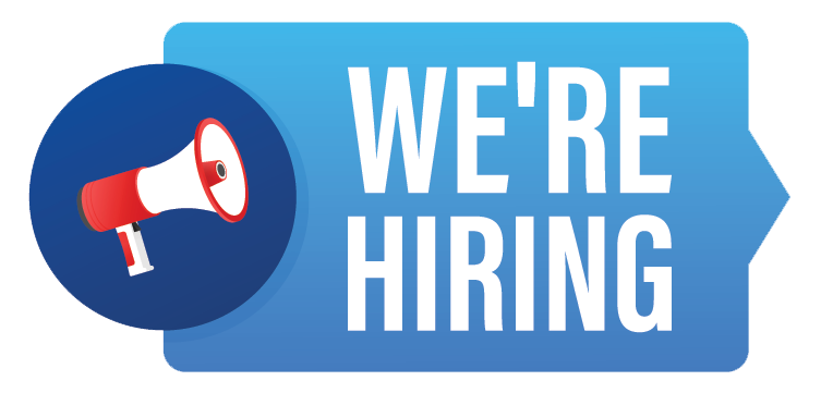 Megaphone With We are Hiring Speech